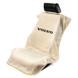 Seat Armour ® - Tan Towel Seat Cover with Volvo Logo (SA100VLVT)