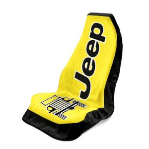 Seat Armour ® - Yellow Towel 2 Go Seat Cover with Jeep Wrangler Logo (T2G100Y)