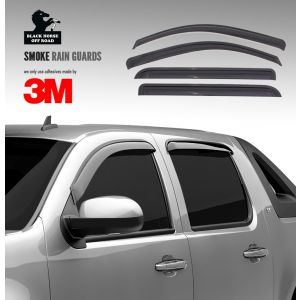 Black Horse Off Road ® - Smoke Rain Guards (14-94422)