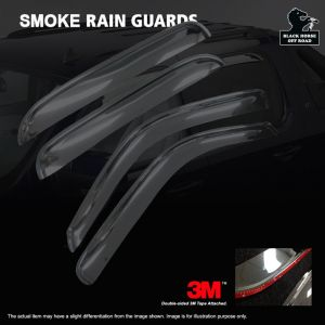 Black Horse Off Road ® - Smoke In Channel Rain Guards (140431-IN)