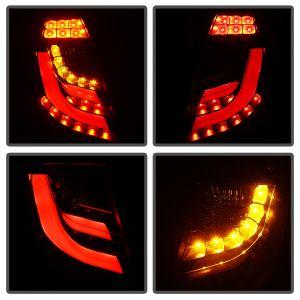Spyder Auto ® - Black Light Bar Style LED Tail Lights (5076434)