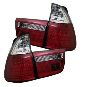 Spyder Auto ® - Red Clear 4PCS LED Tail Lights (5000804)