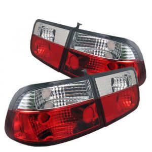 Spyder Auto ® - Red Clear Crystal Tail Lights (5004826)