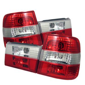 Spyder Auto ® - Red Clear Euro Style Tail Lights (5000491)