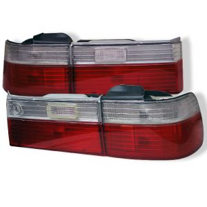 Spyder Auto ® - Red Clear Euro Style Tail Lights (5004062)