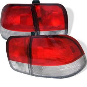 Spyder Auto ® - Red Clear Euro Style Tail Lights (5005052)