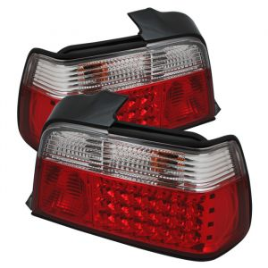 Spyder Auto ® - Red Clear LED Tail Lights (5000576)