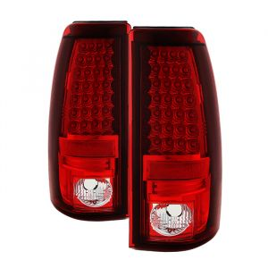 Spyder Auto ® - Red Clear LED Tail Lights (5002068)