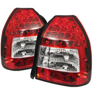 Spyder Auto ® - Red Clear LED Tail Lights (5004949)