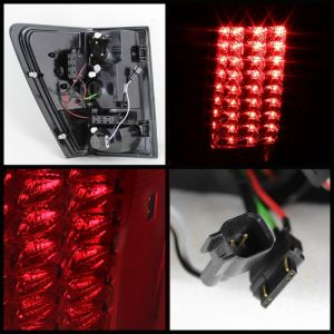 Spyder Auto ® - Red Clear LED Tail Lights (5070203)