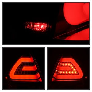 Spyder Auto ® - Red Clear LED Tail Lights (5076403)
