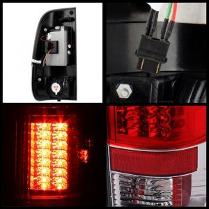 Spyder Auto ® - Red Clear Version 2 LED Tail Lights (5029140)