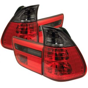 Spyder Auto ® - Red Smoke 4PCS Euro Style Tail Lights (5000842)