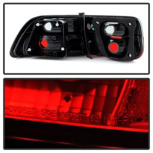 Spyder Auto ® - Red Smoke Crystal Tail Lights (5076557)