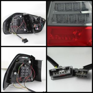 Spyder Auto ® - Red Smoke LED Indicator Light Bar LED Tail Lights (5071989)