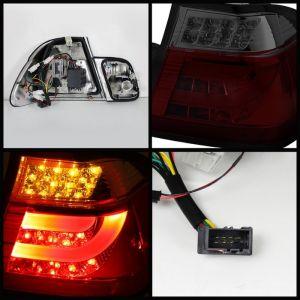 Spyder Auto ® - Red Smoke Light Bar Style LED Tail Lights (5015969)