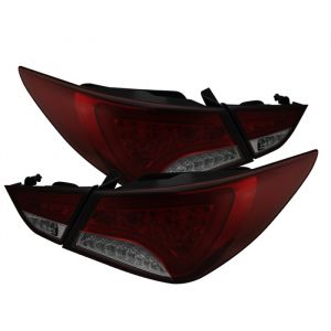 Spyder Auto ® - Red Smoke Light Bar Style LED Tail Lights (5075260)