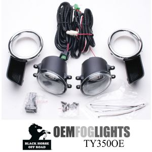 Black Horse Off Road ® - OEM Replica Clear Fog Lights (TY350OE)