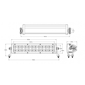 Wurton ® - 14 Inch 5 Watt High Power Flood Beam LED Light Bar Kit (31421)