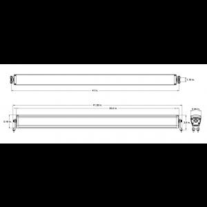 Wurton ® - 40 Inch 10 Watt High Performance Combo Beam LED Light Bar Kit (21403)