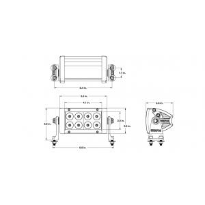 Wurton ® - 6 Inch 5 Watt High Power Spot Beam LED Light Bar Kit (30611)