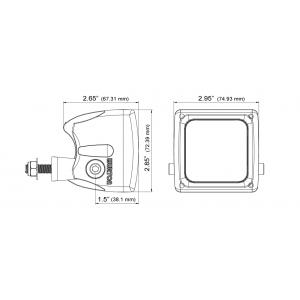 Wurton ® - 3 Inch 5 Watt Dual Scout LED Diffused Beam Cube Light (38043)