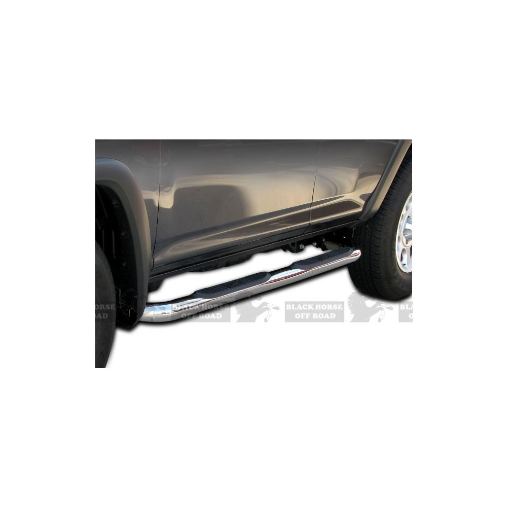 Black Horse Off Road ® - Stainless Steel 3 Inch Round Side Steps (9B094702SS)