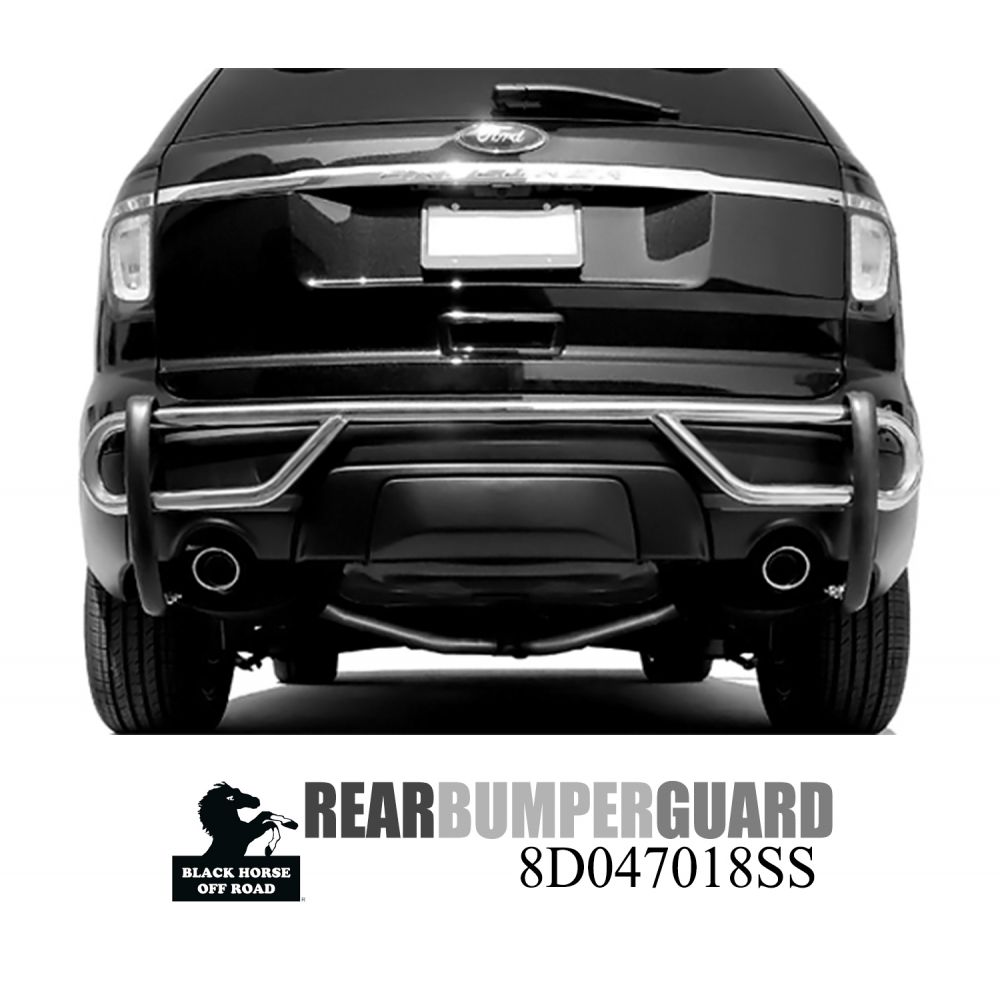Black Horse Off Road ® - Rear Bumper Guard (8D047018SS)