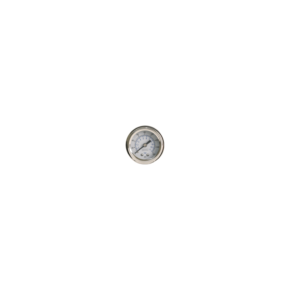 Viair ® - 2 Inch Single Needle Illuminated White Face In-Dash Gauge (90087)