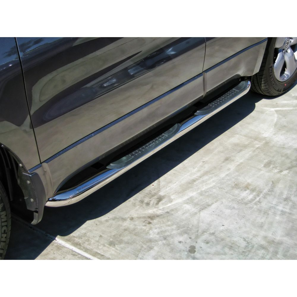 Black Horse Off Road ® - Stainless Steel 3 Inch Round Side Steps (9B098901A1SS)