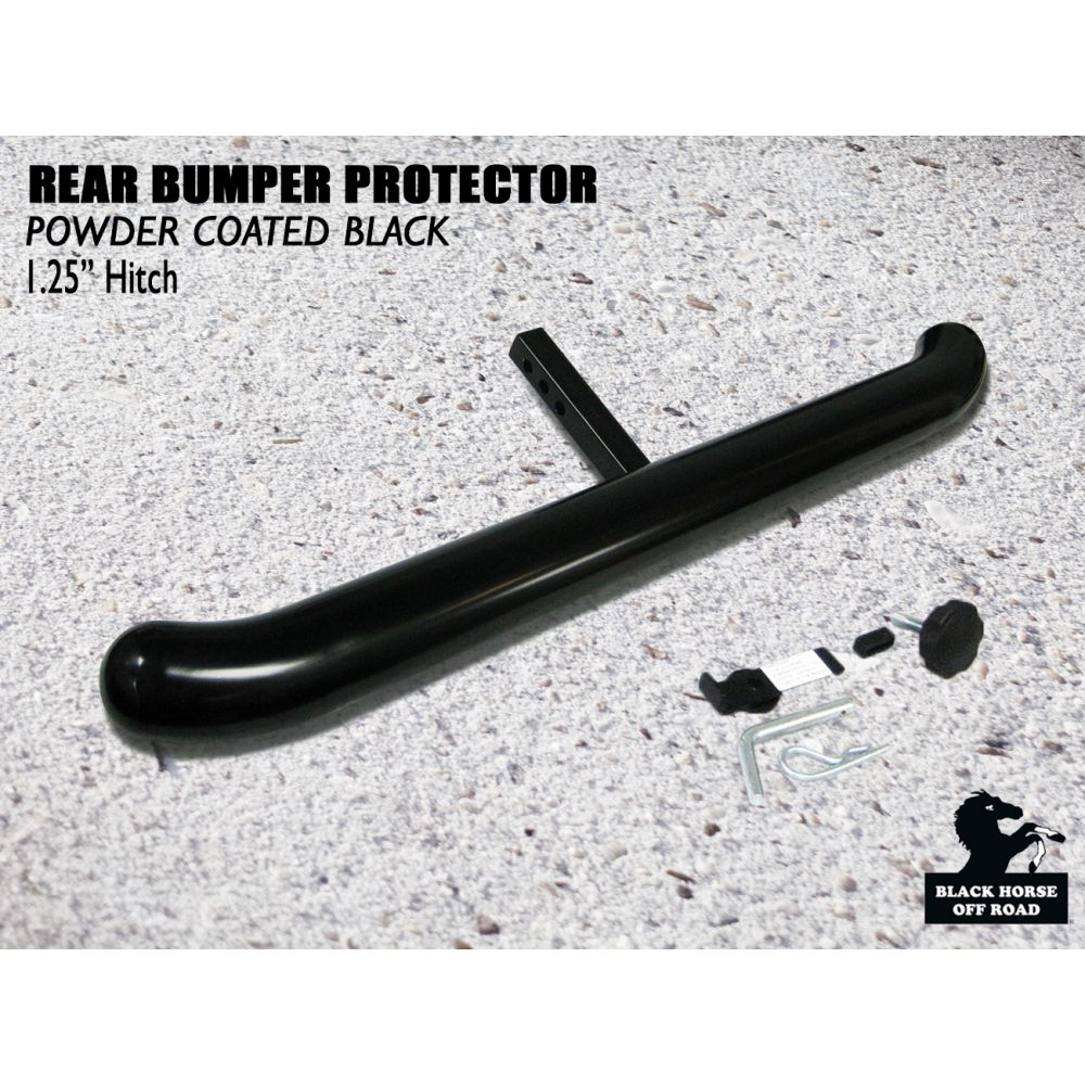 Black Horse Off Road ® - Universal 1.25 Inch Black Rear Bumper Protector Length 36 Inch (RBP2000A)