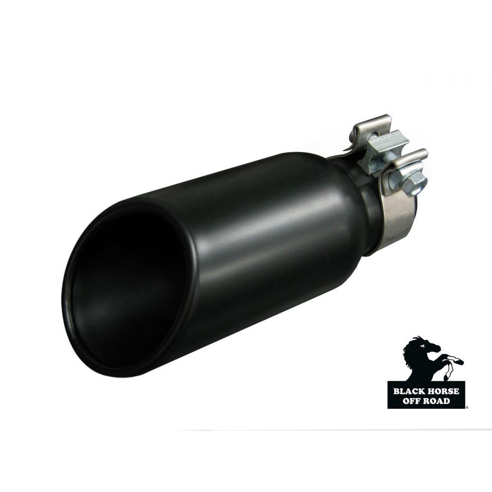 Black Horse Off Road ® - Universal 4 Inch Black Muffler Exhaust Tip (MT-RR01BK)