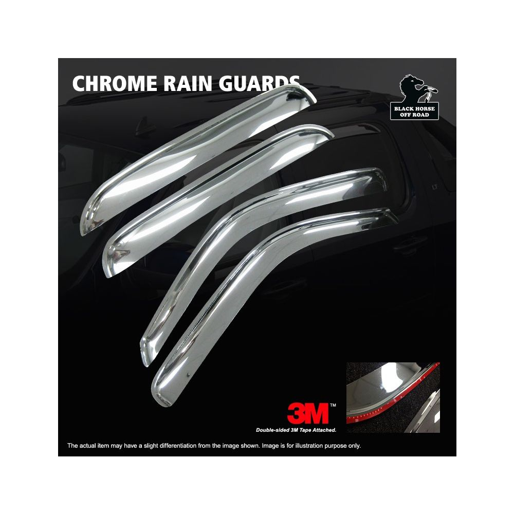 Black Horse Off Road ® - Chrome Rain Guards (241657)