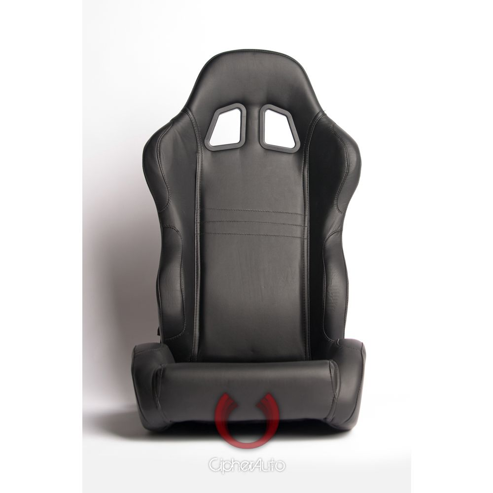 Cipher Auto ® - Black Leatherette Universal Racing Seats (CPA1007PBK)