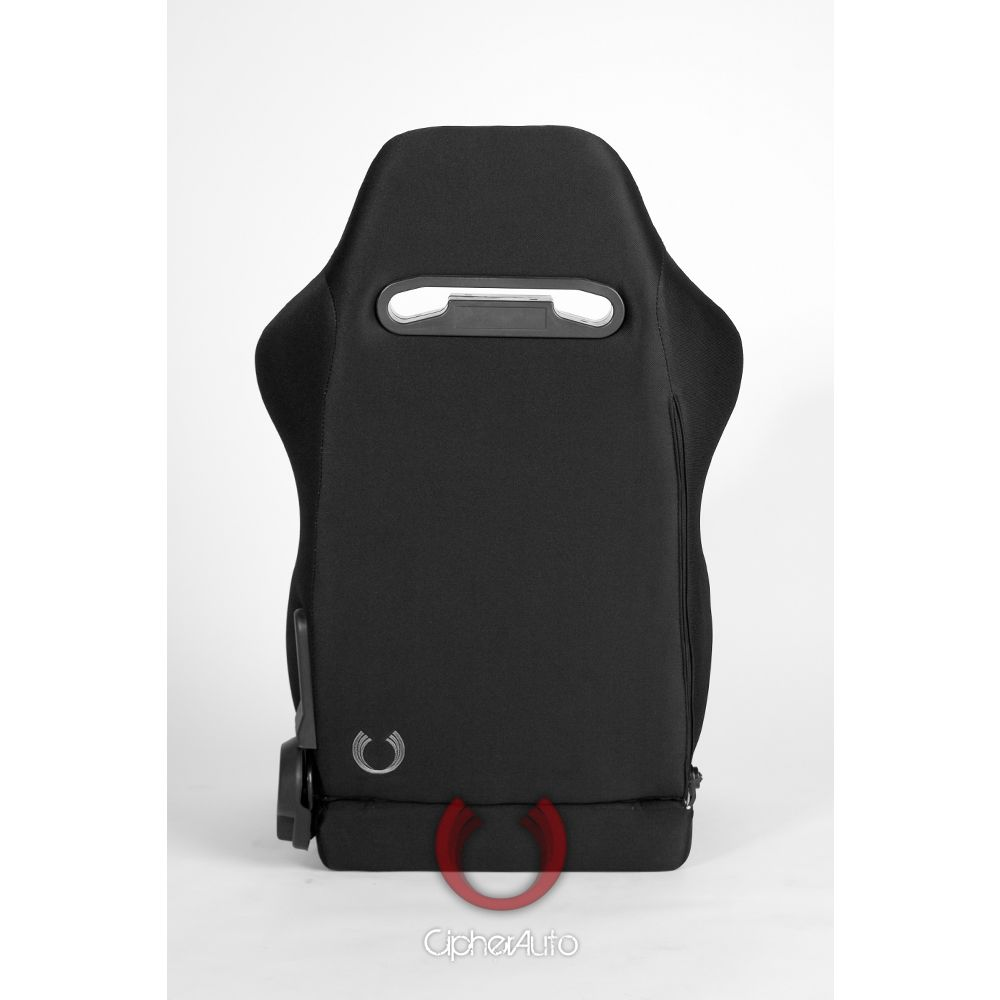 Cipher Auto ® - Black Cloth with Blue Outer Stitching Universal Racing Seats (CPA1013FBK-B)