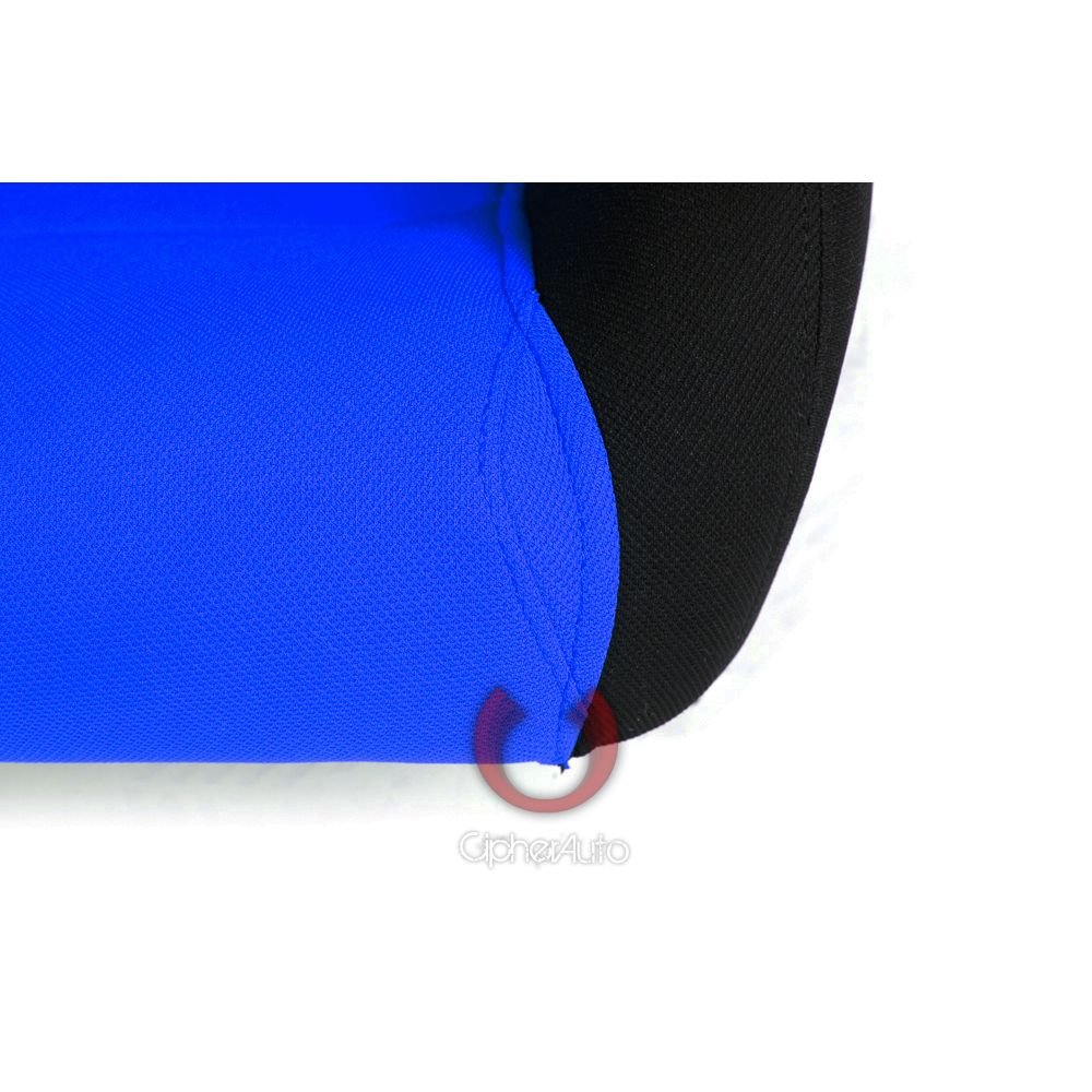 Cipher Auto ® - Black and Blue Insert Cloth Universal Racing Seats (CPA1013FBKBU)