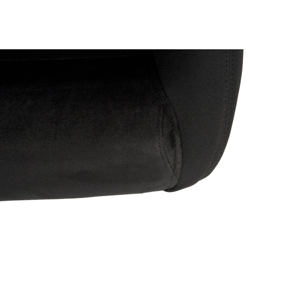 Cipher Auto ® - Black Cloth with Microsuede Insert Universal Racing Seats (CPA1013FSDBK)