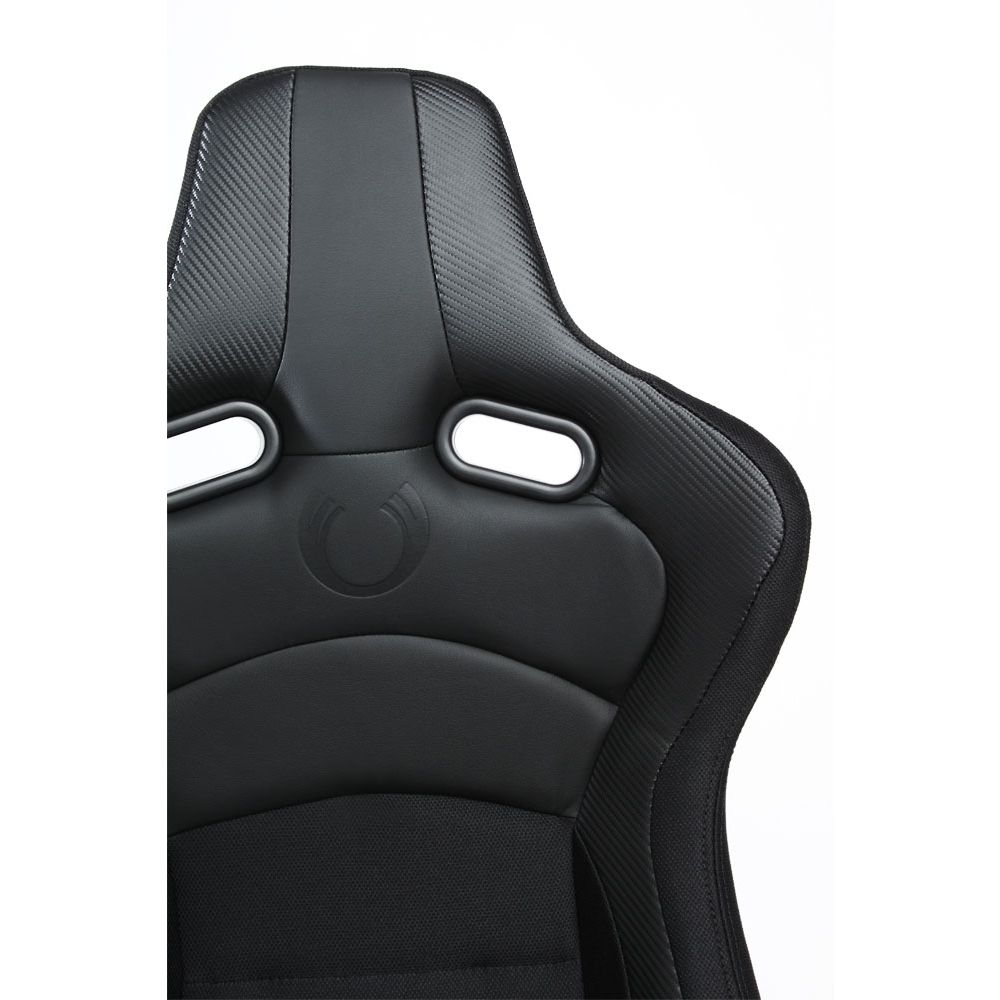 Cipher Auto ® - Black with Black Carbon PU Universal VP-8 Racing Seats (CPA2003CFBK)