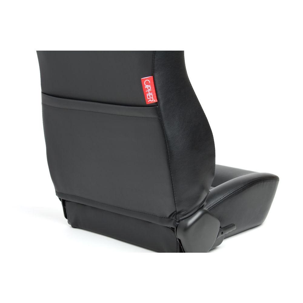 Cipher Auto ® - Black Leatherette Universal Jeep Seats (CPA3001PBK)