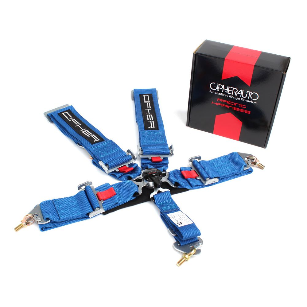 Cipher Auto ® - Blue 5 Point 3 Inches Camlock Racing Harness SFI 16.1 (CPA4005BL)