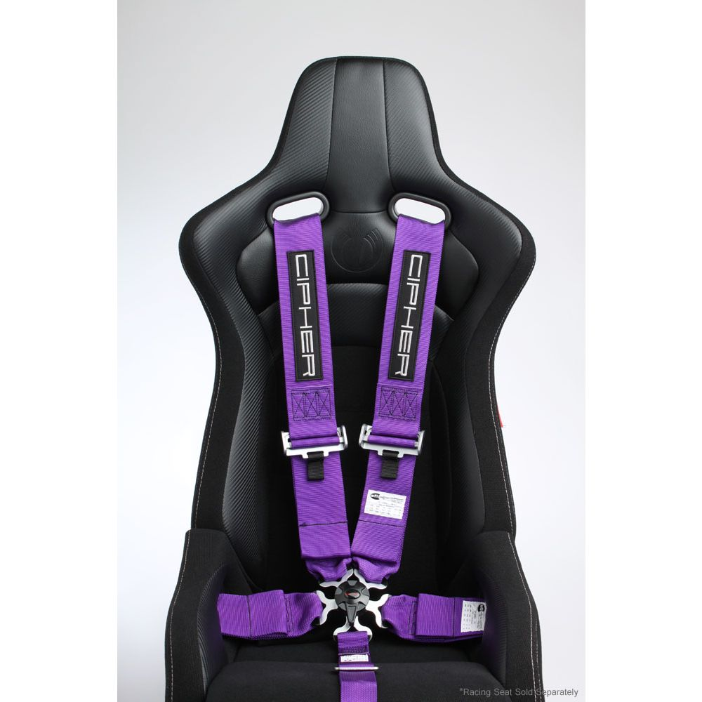 Cipher Auto ® - Purple 5 Point 3 Inches Camlock Racing Harness SFI 16.1 (CPA4005PR)
