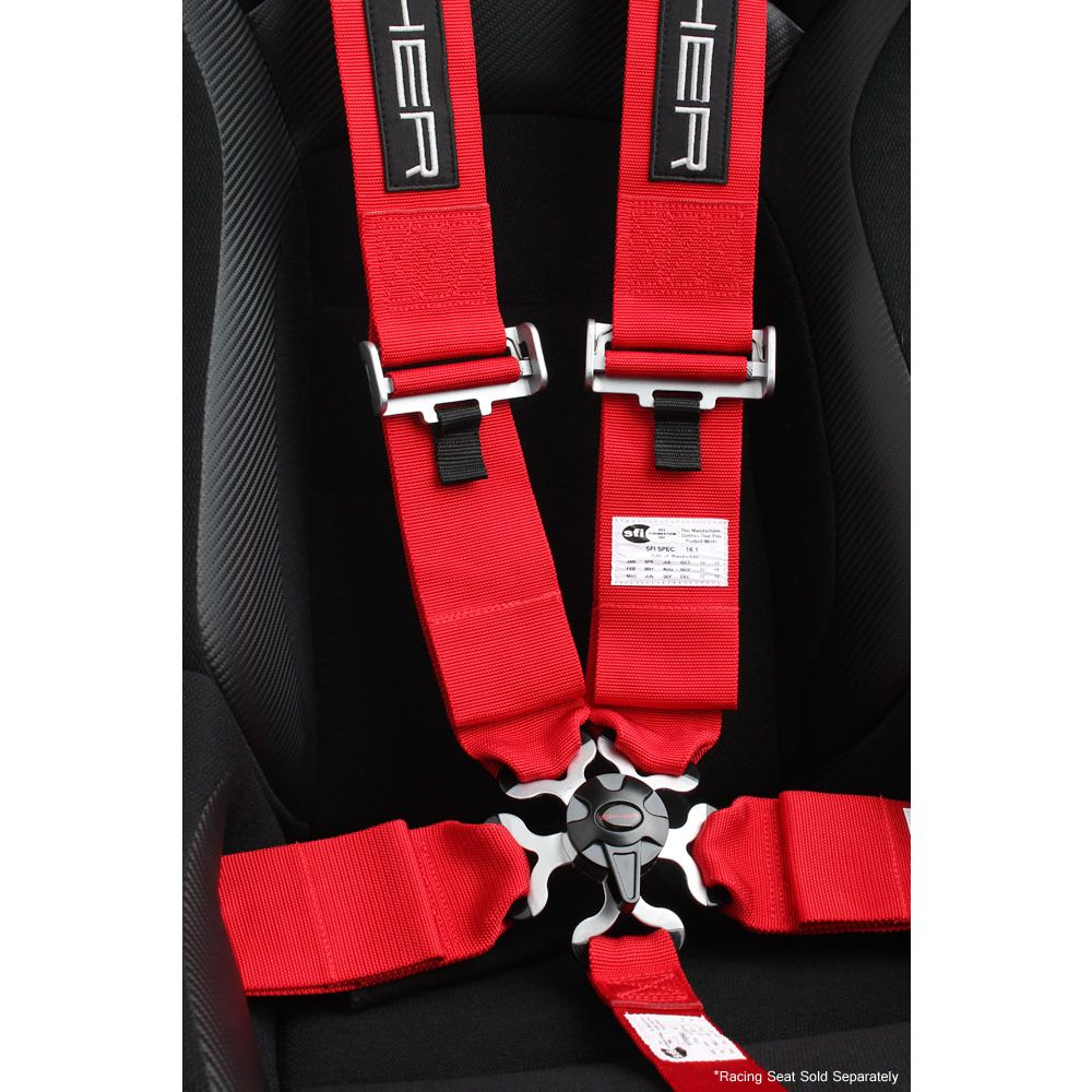 Cipher Auto ® - Red 5 Point 3 Inches Camlock Racing Harness SFI 16.1 (CPA4005RD)