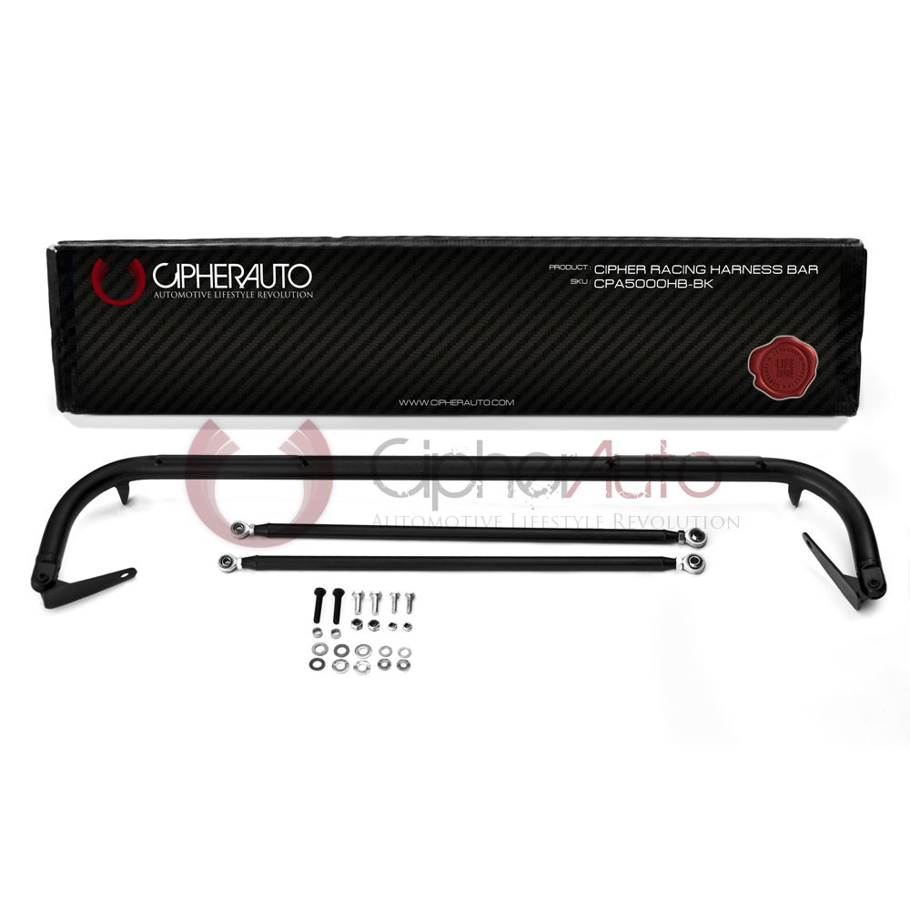 Cipher Auto ® - Black Custom Racing Harness Bar (CPA5006HB-BK)