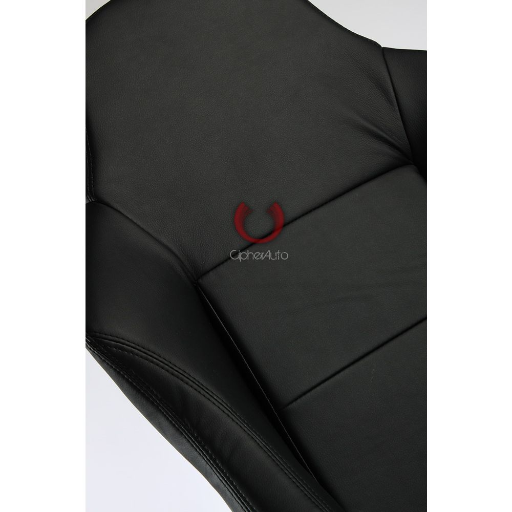 Cipher Auto ® - Black Leatherette Office Racing Seat (CPA5001PBK)