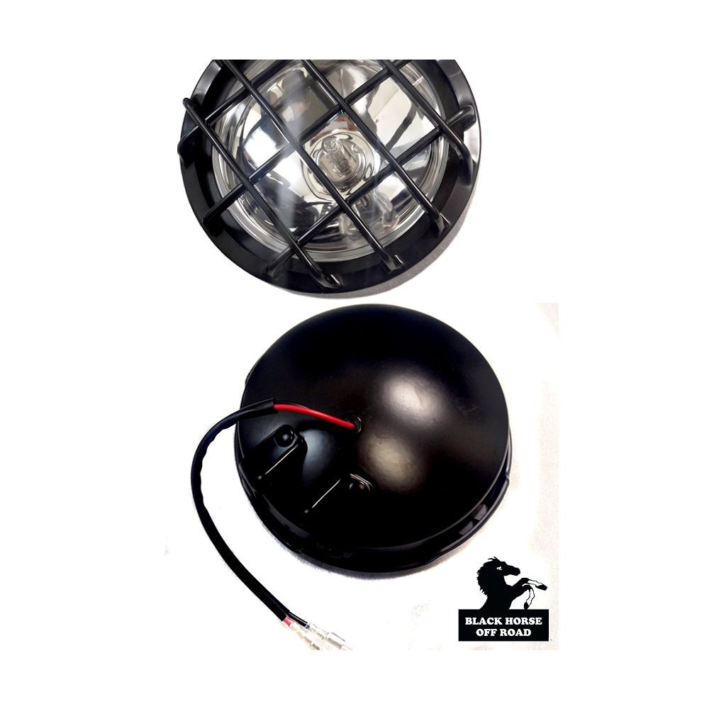 Black Horse Off Road ® - Round Universal Fog Lights (KS1517-BKL)