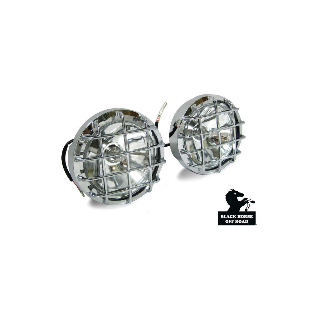 Black Horse Off Road ® - Round Universal Fog Lights (KS1517-CCL)