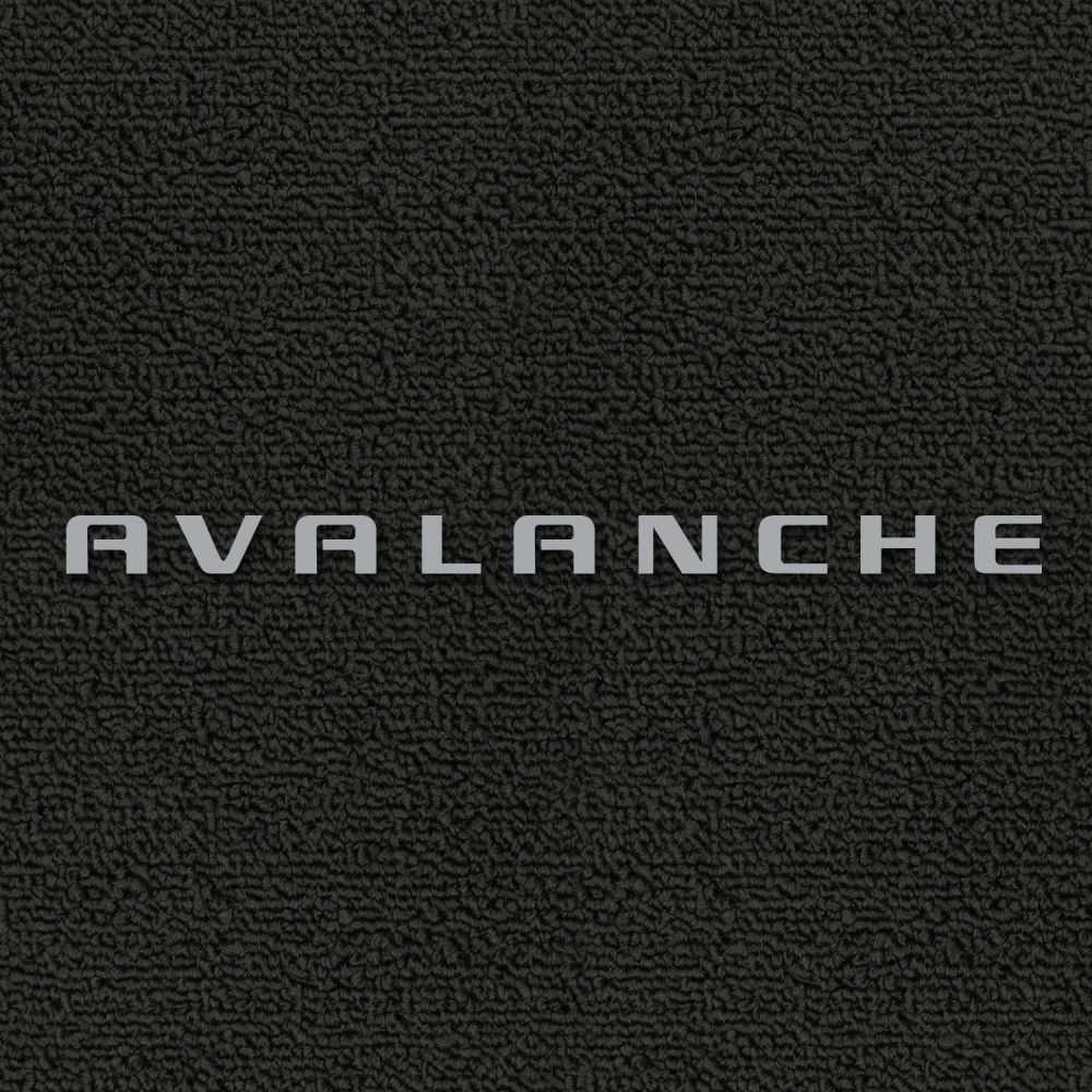 Lloyd Mats ® - Classic Loop Black Front Floor Mats For Chevrolet Avalanche 2007-13 With Avalanche Silver Embroidery