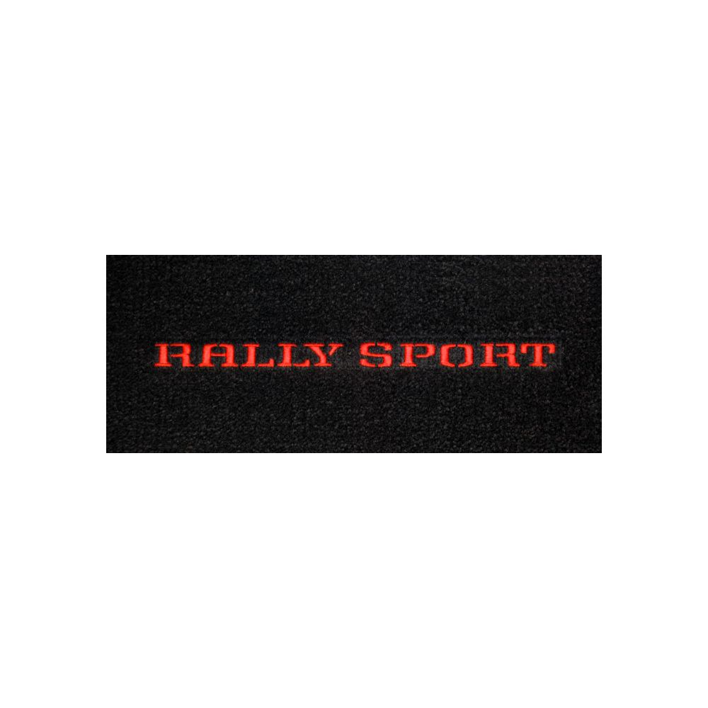 Lloyd Mats ® - Classic Loop Black Front Floor Mats For Chevrolet Camaro 1970-73 with Rally Sport Red Embroidery