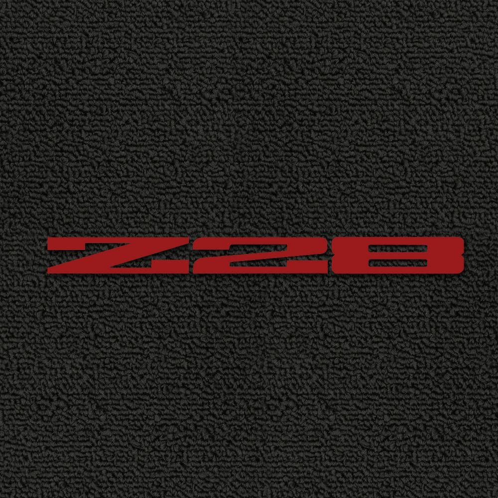 Lloyd Mats ® - Classic Loop Black Front Floor Mats For Chevrolet Camaro 1979 with Z28 Red Embroidery
