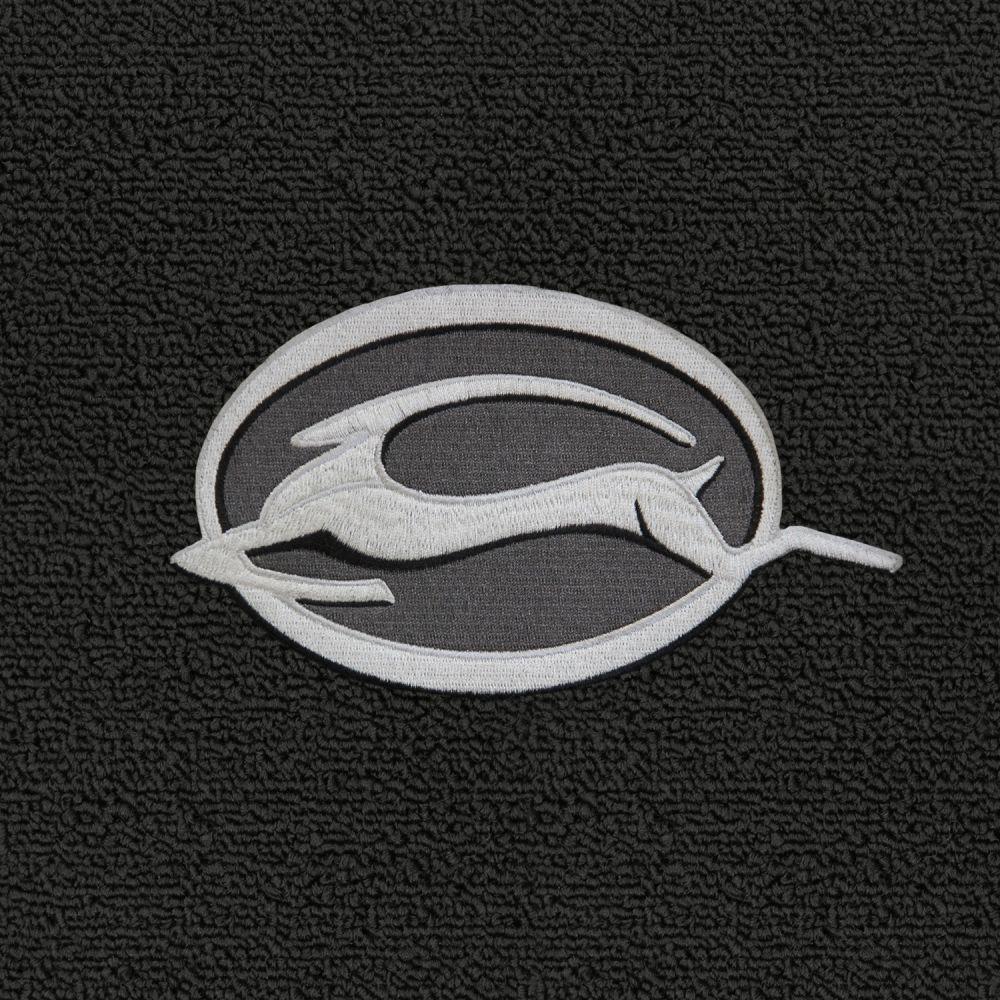 Lloyd Mats ® - Classic Loop Black Front Floor Mats For Chevrolet Impala 1961-17 With Impala Logo Silver Applique